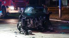 Dwie osoby poszkodowane po wypadku w Dąbrowie
