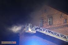 Pożar kanapy w domu wielorodzinnym w Kuniowie