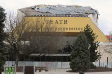 Porywisty wiatr uszkodził dach Teatru im. Jana Kochanowskiego w Opolu