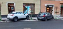 Mieszkańcy ulicy Kośnego są bezradni wobec samochodów niszczących tam nowe nasadzenia