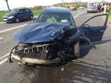 Dwie osoby poszkodowane w wypadku na obwodnicy Brzegu