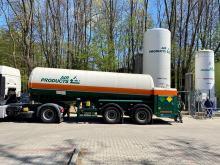 20-tonowy zbiornik z tlenem stanął obok szpitala zakaźnego w Koźlu