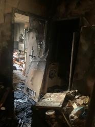 4 zastępy straży gasiły pożar mieszkania w Tarnowie Opolskim
