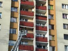 Pożar mieszkania na ulicy Rybackiej w Opolu