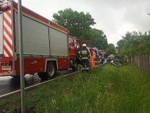 Rogalice: Matka i 3-miesięczne dziecko poszkodowani w wypadku na DK 39