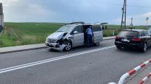 Kolizja samochodu Służby Ochrony Państwa pod opolskim Folwarkiem