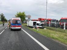 40-letni kierowca ranny po zdarzeniu w Dąbrowie