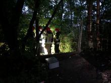Wypadek na kamionce przy ulicy Luboszyckiej. Z wysokiej skarpy spadła kobieta