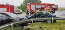 Zderzenie pojazdów w Olszowej. Jedna osoba ranna