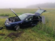 Niebezpieczny poranek na drogach. Zderzenie pojazdów w powiecie strzeleckim