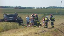 Cztery osoby ranne w tym dwójka dzieci po wypadku na obwodnicy Grodkowa