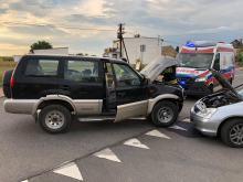 Trzy auta zderzyły się w Przysieczy