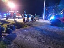 Wypadek w Brynicy. Młody mężczyzna pijany i bez uprawnień
