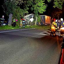 Samochód ciężarowy uderzył w drzewo. Śmiertelny wypadek w Sidzinie