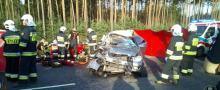 Wypadek na A4 na wysokości miejscowości Ochodze. Ciężko ranne dzieci, nie żyje kobieta