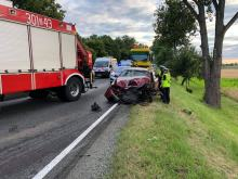 Wypadek na trasie Opole - Zawada. Zderzyły się 3 pojazdy