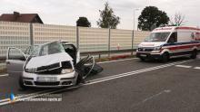 Wypadek w powiecie oleskim. 51-letnia kobieta zmarła w szpitalu
