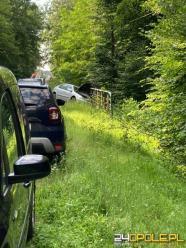 Wypadek na trasie Kup-Namysłów. Odnaleziona kilka godzin po wypadku kobieta była pijana
