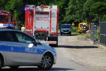 Schodnia: Operator koparki uszkodził rurę gazociągu. Ewakuowano blisko 140 osób