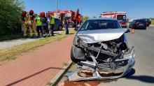 Zderzenie samochodów osobowych na Krzemienieckiej