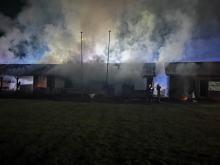 Spłonęła wiata łucznicza w Prudniku. Władze klubu szukają świadków