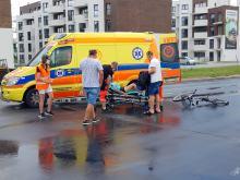 Potrącenie rowerzystki w Opolu