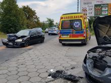 Zderzenie pojazdów na Księdza Jerzego Popiełuszki w Opolu