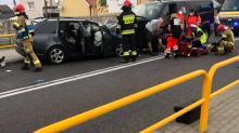 Zderzenie dwóch samochodów w Źlinicach. 4 osoby ranne