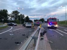 Zderzenie pojazdów w Otmuchowie. Droga jest nieprzejezdna