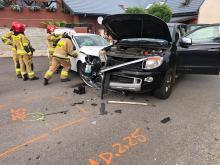 Zderzenie pojazdów w Wawelnie. Dwie osoby zostały poszkodowane