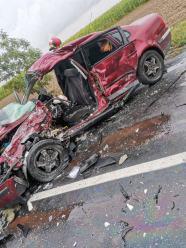 Wypadek na trasie Kórnica-Krapkowice. Lądował śmigłowiec LPR