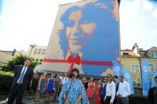 Mural Anny Jantar oficjalnie odsłonięty. W uroczystościach uczestniczyła Natalia Kukulska