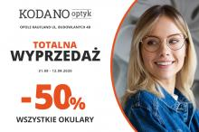 Totalna wyprzedaż w KODANO Optyk. Wszystkie okulary 50% taniej!