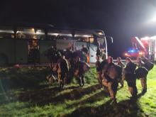 Wypadek autokaru z żołnierzami na brzeskim odcinku A4