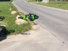 Kierowca motocykla ranny w zdarzeniu drogowym na terenie Opola