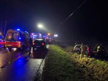 5 osób rannych po wypadku w Dąbrowie