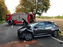 Zderzenie 3 samochodów na trasie Borkowice - Skarbiszów