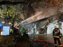 Nocna akcja straży w Zdzieszowicach. Płonął dom jednorodzinny