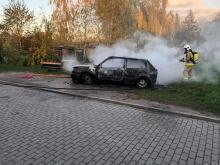 Sokolniki: spłonął samochód osobowy