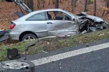 Zderzenie samochodu osobowego z ciężarówką w powiecie brzeskim