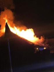 Pożar pustostanu na ulicy Sportowej w Opolu
