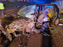 Czołowe zderzenie pojazdów w Ciężkowicach