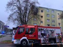Groźny pożar w Kędzierzynie Koźlu, spłonęło mieszkanie