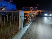 Kierujący Volkswagenem wjechał w ogrodzenie. Mężczyzna był pijany