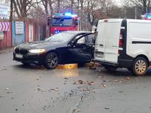 Zderzenie pojazdów na skrzyżowaniu 1-Maja i Rejtana