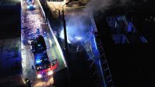 Ogień na budowie osiedla w Opolu
