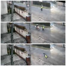 Motocyklista nie zatrzymał się do kontroli, potrącił policjanta i zaczął uciekać