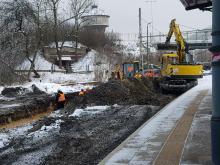 Rozpoczęła się budowa peronu na stacji Opole Główne