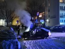 Pożar samochodu osobowego na ulicy Kieleckiej w Opolu