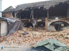 Runęła stodoła w Czeskie Wsi
